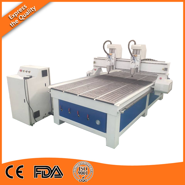 High precision independent double head cnc router, dual heads cnc router for sale