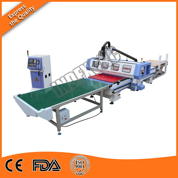 INF-9 1325 Window door machine furniture product line , atc cnc router ,   9kw atc auto feeding machine